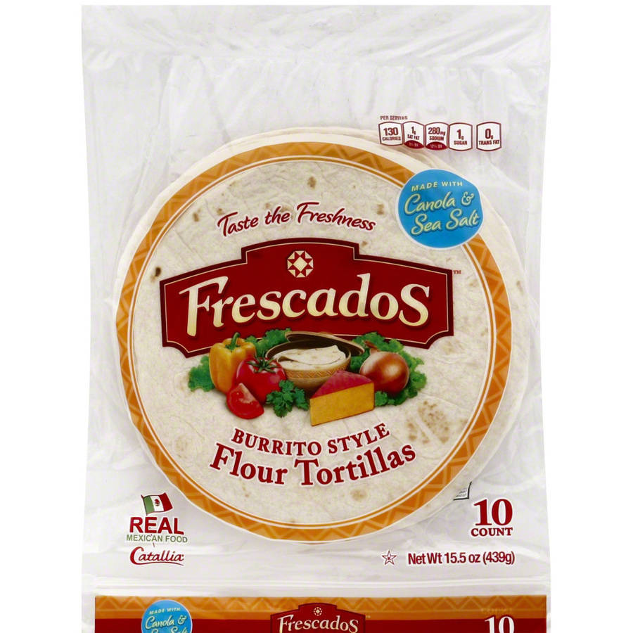 Frescados Burrito Style Flour Tortillas, 15.5 oz, (Pack of 12)