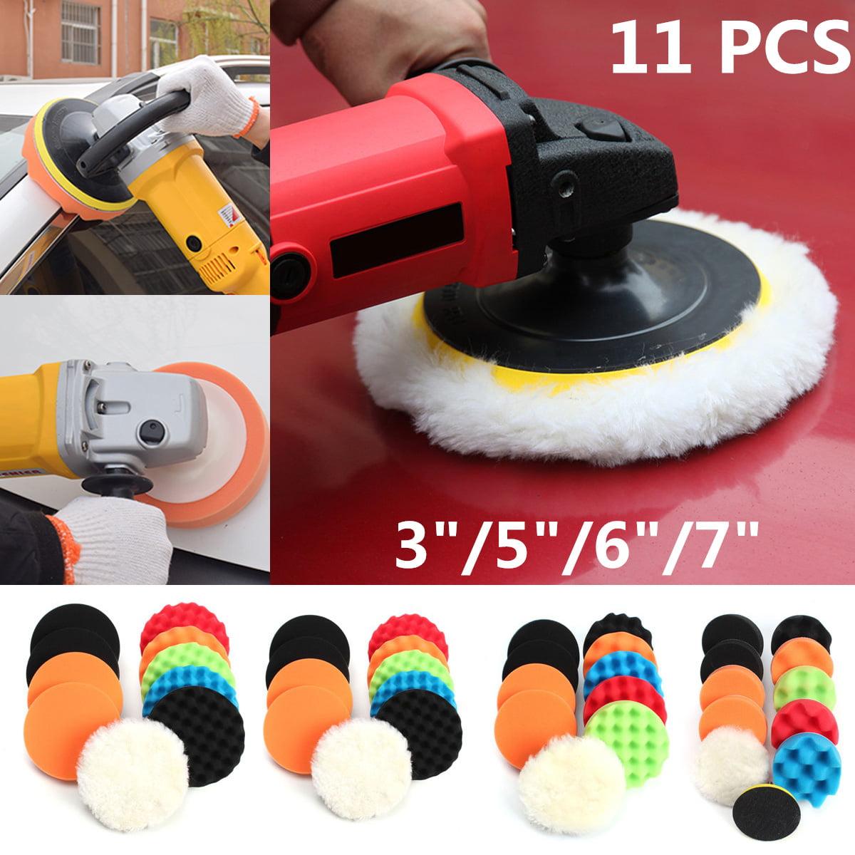 18 PCS 7 Inch Polishing Pad Sponge Buff Buffing Kit Set Car Polisher for Drill