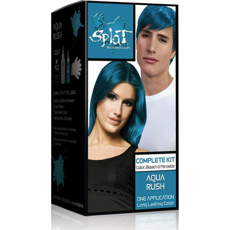 Splat 30 Wash Semi-Permanent Hair Dye Kit Aqua Rush