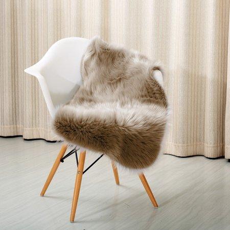 Super Pile (Reafort High Pile Super Soft Faux Sheepskin Rug, Chair Cover, Sofa Cover)