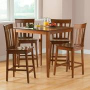mainstays 5 piece counter height dining set cherry - Dining Room Set Walmart