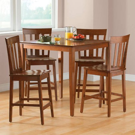 Mainstays 5 Piece Counter Height Dining Set Cherry