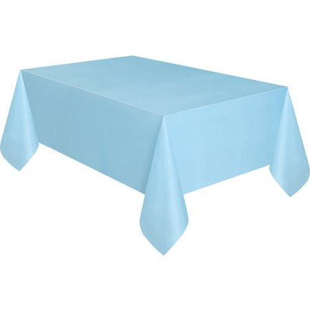 Light Blue Plastic Table Cover Rectangle Walmart Com