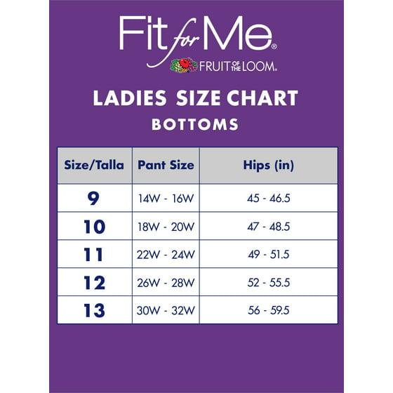 a9c00e8d7 Fit for Me by Fruit of the Loom - Women s Plus Flexible Fit Brief Panties -  4 Pack - Walmart.com