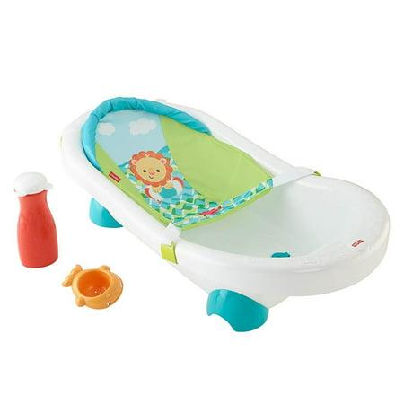 Fisher Price Grow with Me Infant Toddler Baby Go Wild Bath Bathroom Tub Bathtub