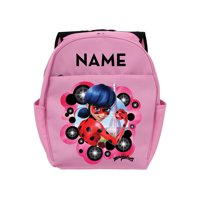 Personalized Miraculous Ladybug Pink Toddler Backpack, Pink