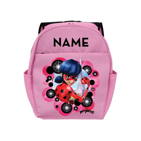 Personalized Miraculous Ladybug Pink Toddler Backpack, Pink](Personalized Backpack For Toddler Girl)