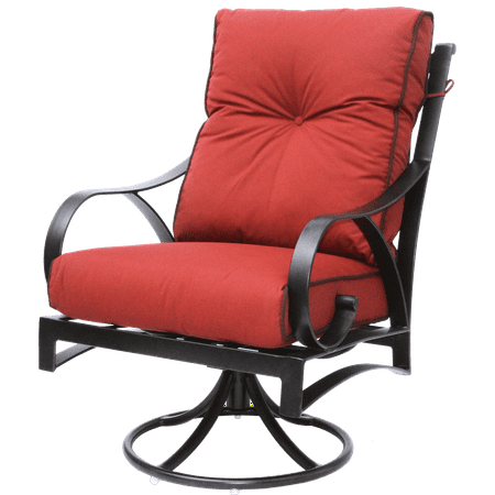Newport Cast Aluminum Outdoor Patio Swivel Rocker Chair ()