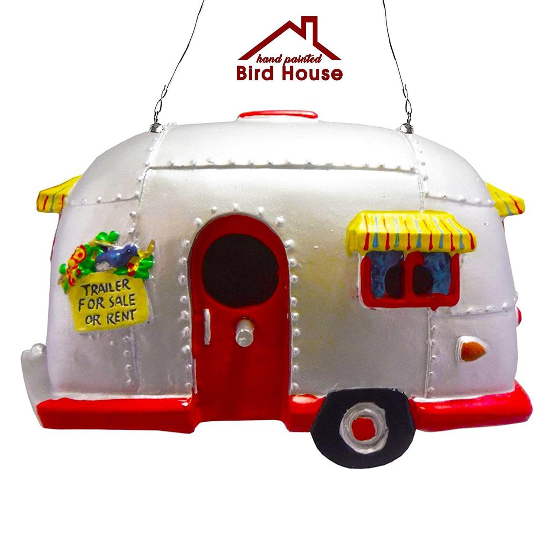Rv Style Trailer Birdhouse, Resin Birdhouse for Garden or Patio by Big Mos Toys by Big Mo's Toys
