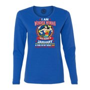 Wonder WoMan  Born In January WoMan s Long Sleeve