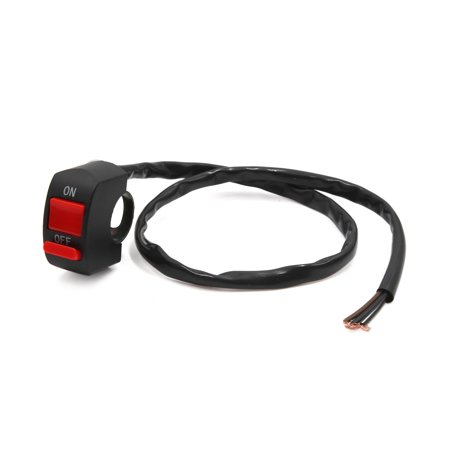 Pair 3 Wires Motorcycle Handlebar Mount Light Switch ON/OFF Button Controller - image 2 of 2