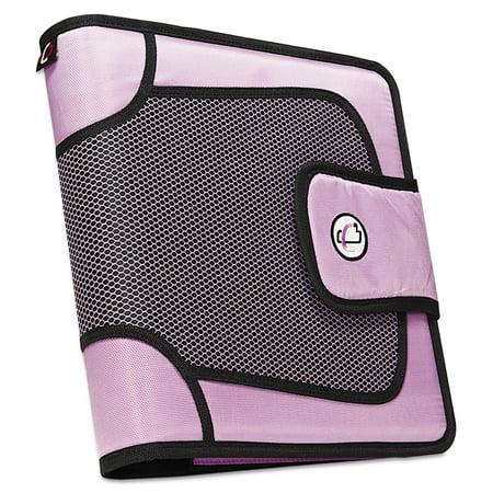 Case it Premium Velcro Closure Binder, 2u0022 Capacity, 8-1/2 x 11, Lavender