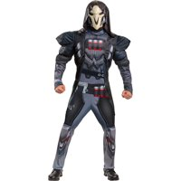 Disguise Limited Reaper Halloween Muscle Costume for Men, Overwatch, with Accessories