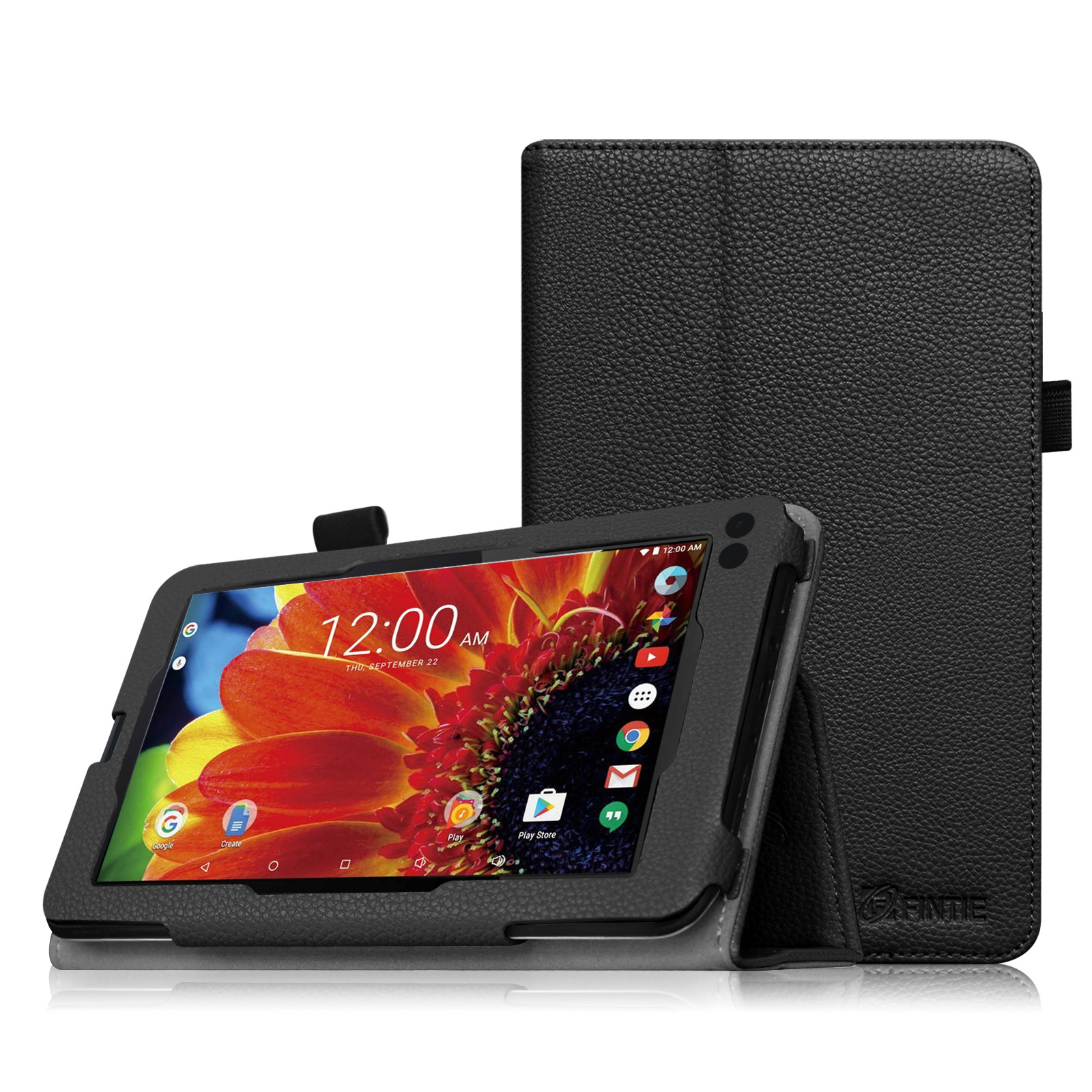 "Fintie PU Leather Case Folio Cover for RCA 7"" Voyager III / Voyager II / Voyager Pro Tablet, Black"