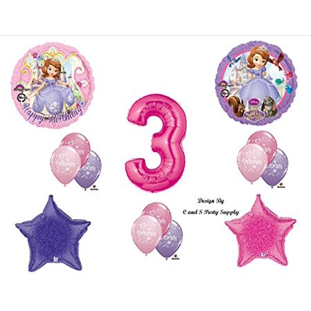Disney's SOFIA THE FIRST THIRD 3RD Happy Birthday PARTY Balloons Decorations Supplies - Sofia The First Birthday Party Decorations