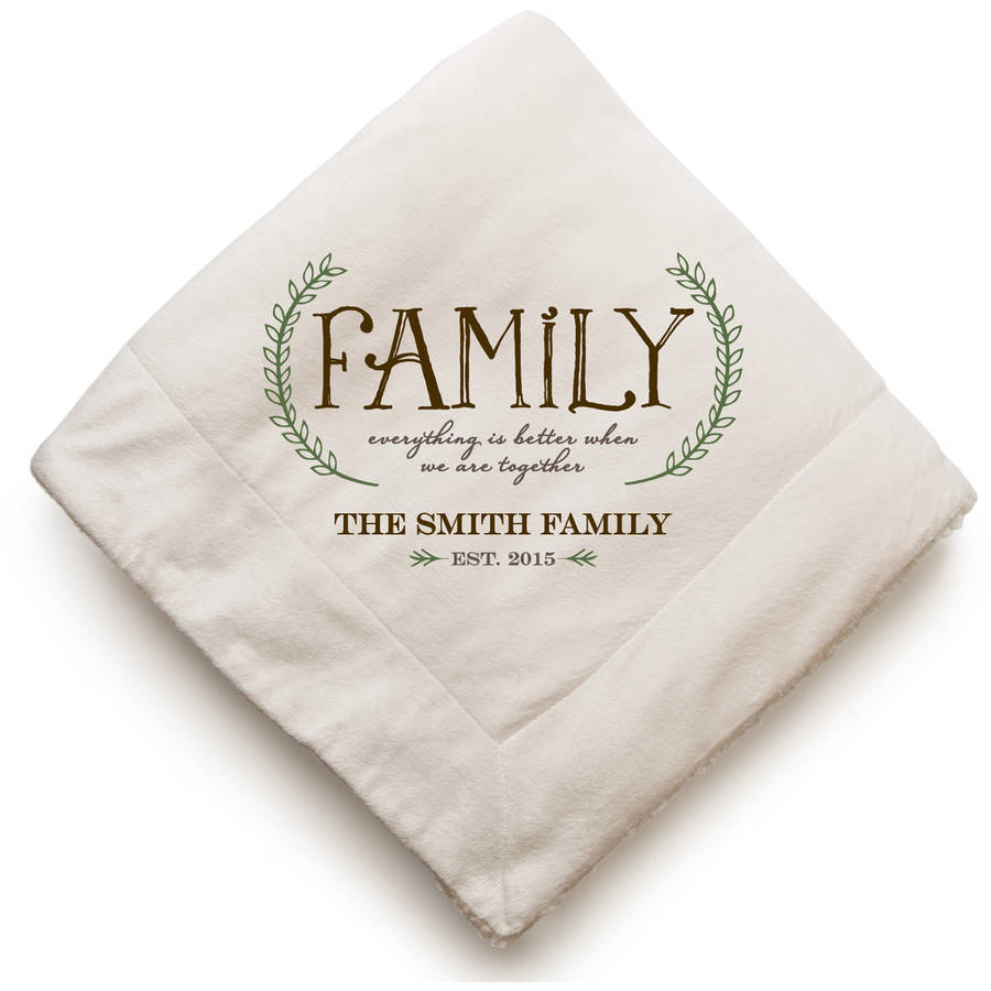 Our Family Personalized Sherpa Blanket