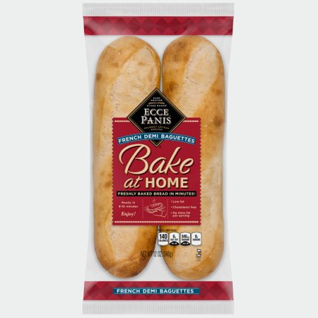 Ecce Panis Bake at Home Frozen French Demi Baguettes Bread, 12 oz. Bag, 2-pack