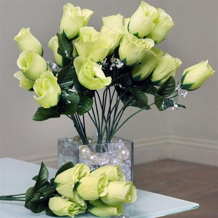 White Lily Florist (Efavormart 84 Artificial Buds Roses for DIY Wedding Bouquets Centerpieces Arrangements Party Home Decorations Wholesale Supplies)