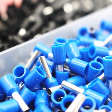 1200Pcs Assorted Crimping Wire End Terminals Copper Insulated Cord Pin End Crimp Terminal Electrical Wire Connector - image 1 of 7