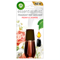 Air Wick Essential Mist, Fragrance Essential Oils Diffuser Refill, Peony & Jasmine, 1ct, Air Freshener