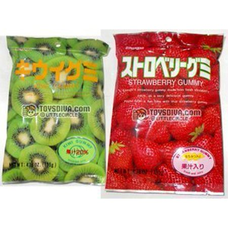 Kasugai Kiwi and Strawberry Gummy Candies 2 -
