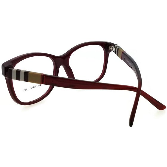 2efed4886e51 Burberry BE2204-3543-52 Women s Burgundy Frame Clear Lens Genuine Eyeglasses  - Walmart.com