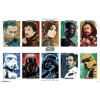 Star Wars Rogue One - Character Grid - Poster Poster Print