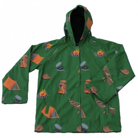 foxfire fox-601-37-6 childrens camping raincoat, green - size 6 (Childrens Size 28)