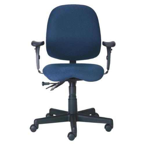 Task Chair w Paddle Controls, Armrests, Swivel & Casters - Cameron (Crabapple)