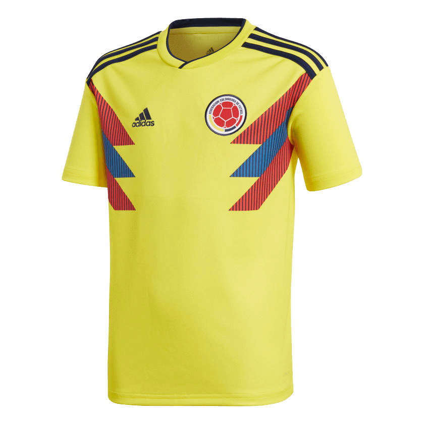 adidas Youth Soccer Colombia Home Jersey   BR3509