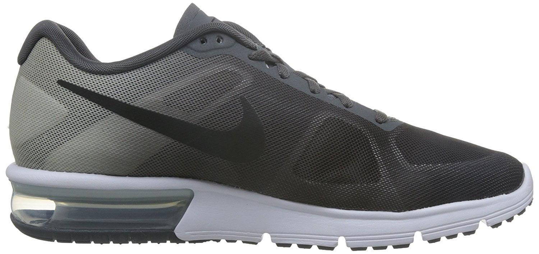 NIKE Men's Air Max Sequent Running Shoe Dark Grey/Platinum/Black Size 12 M US