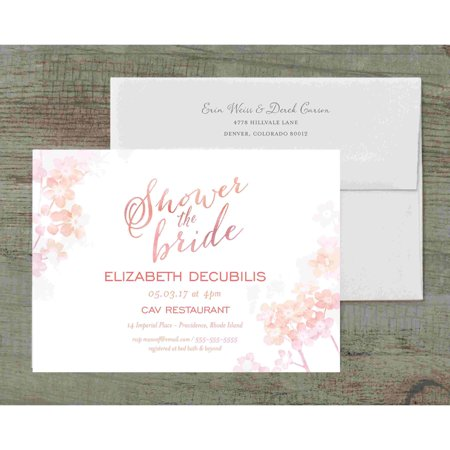 Ombre deluxe bridal shower invitation walmartcom for Walmart wedding shower invitations