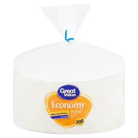 Great Value Economy Paper Plates, 9