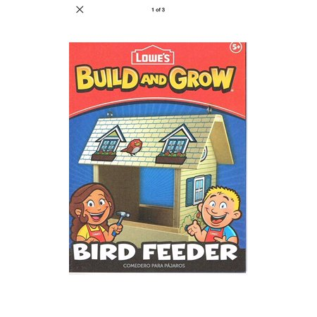 Build and Grow Bird Feeder, Lowe's Build and grow By lowes Ship from US ()