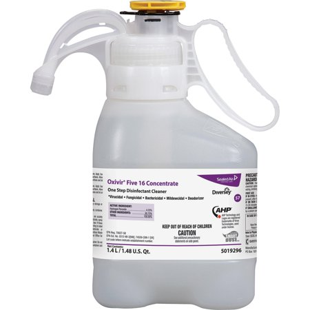 Diversey, DVO5019296, Oxivir Five 16 Disinfectant Cleaner, 1 Each, Clear (Diversey Carpet Cleaner)