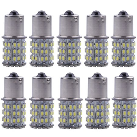 10-Pack 64-SMD 1156 BA15S 1141 1003 LED Bulbs For Car Rear Turn Signal lights Interior(Super