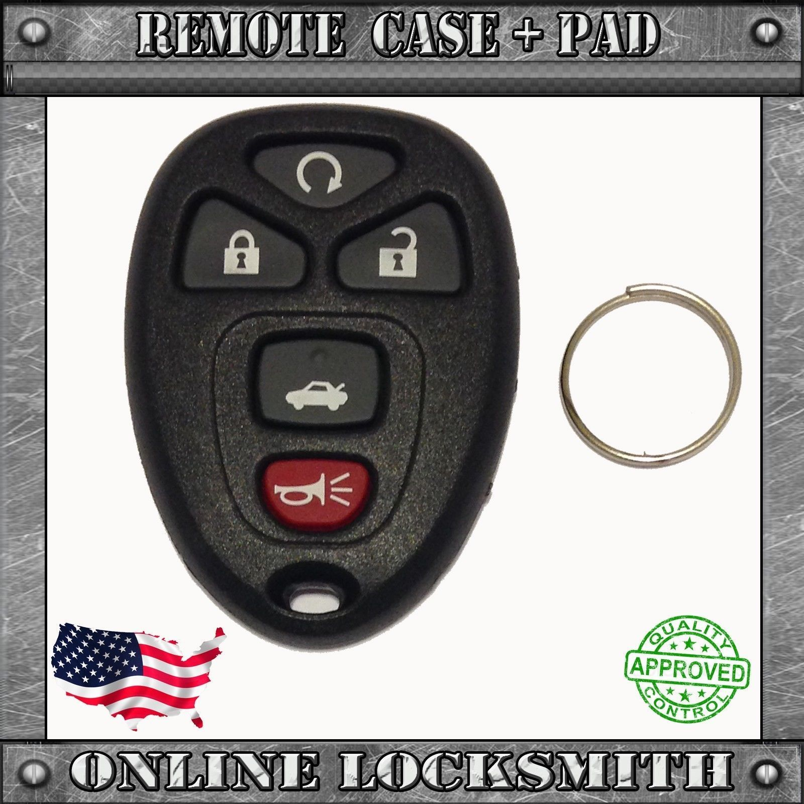 Cadillac DTS 2006-2007 Replacement Keyless Entry Remote Key Fob Shell By Ri-Key