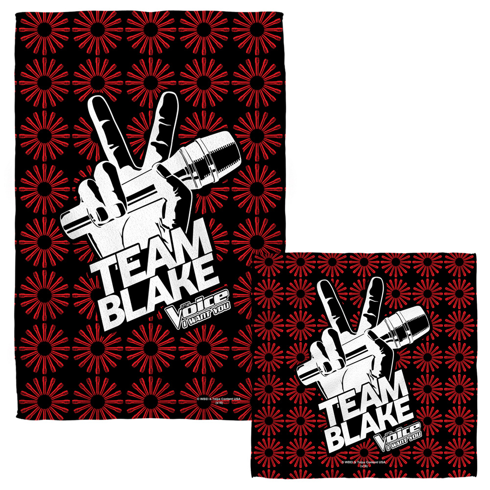 The Voice Team Blake Face Hand Towel Combo White