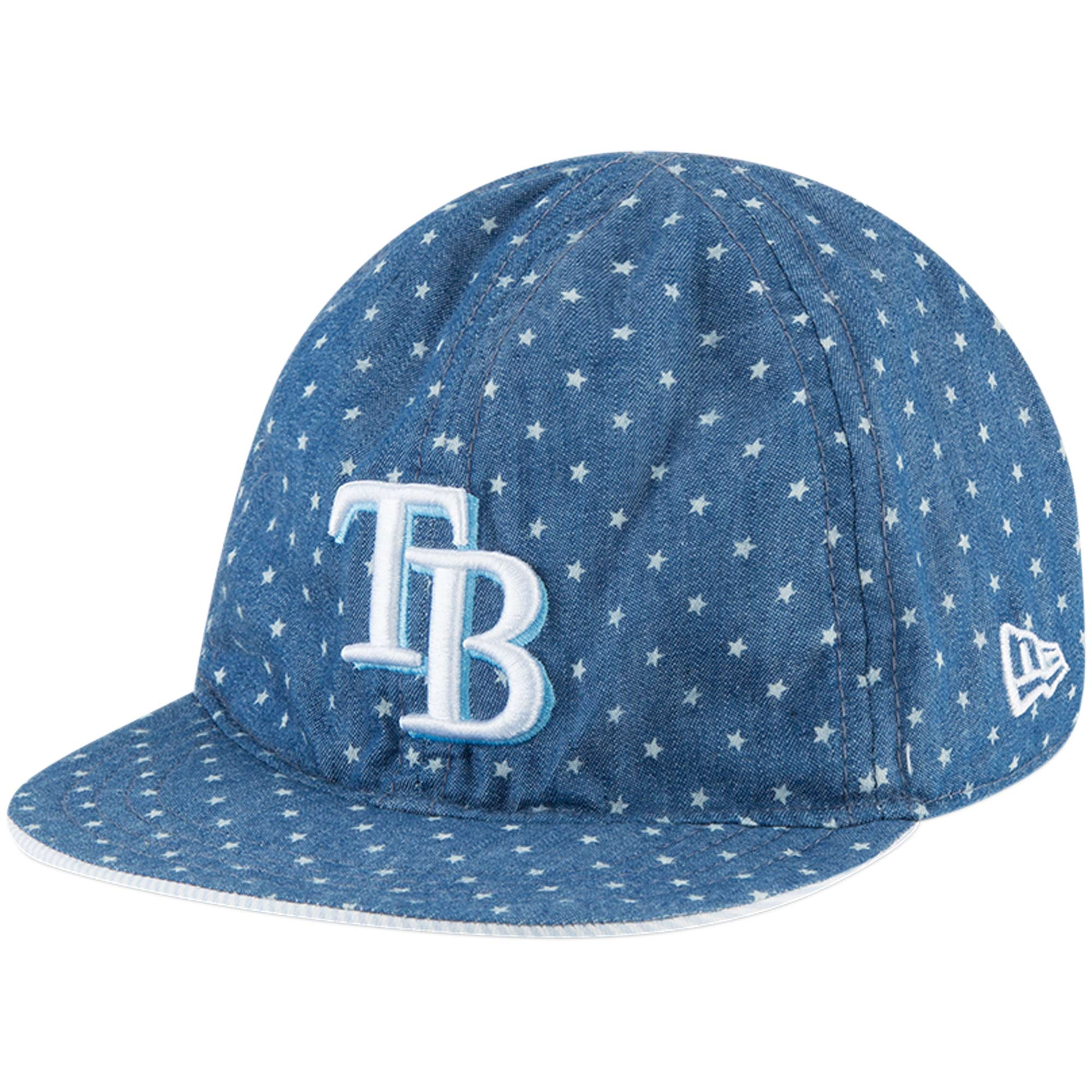 Tampa Bay Rays New Era Infant Flip 9TWENTY Adjustable Hat - Denim/White - OSFA