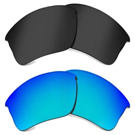 FLAK JACKET XLJ Replacement Lenses Polarized Black & Blue by SEEK fit (Xlj Lenses)