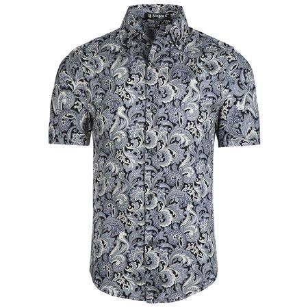 Unique Bargains Men's Summer Pineapple Short Sleeve Button Down Hawaiian