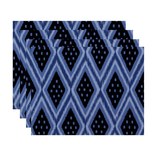 e by design Ikat Diamond Dot Geometric Placemat (Set of 4)