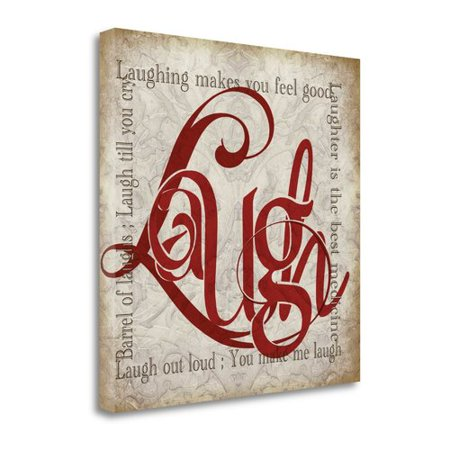 Tangletown Fine Art Laugh And Other Sentiments Textual Art On Canvas