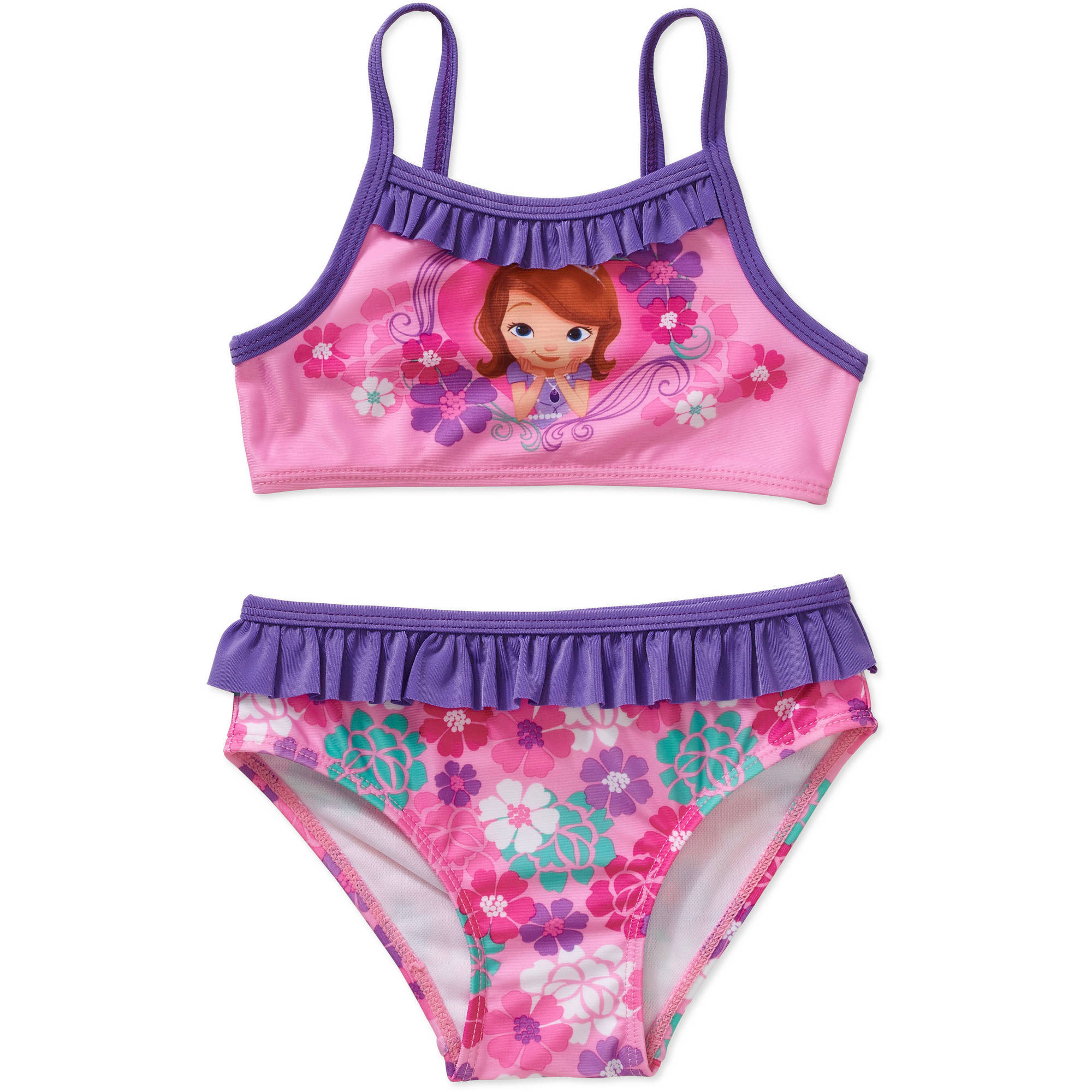 Disney Sofia the First Princess Toddler Girl Bikini Swimsuit
