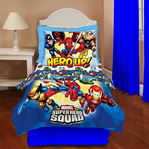 Superhero Squad - 4-Piece Toddler Bedding Set