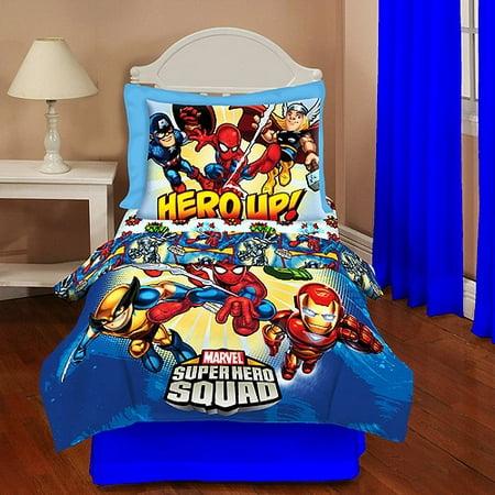 Marvel Heroes Marvel Super Hero Squad Toddler Bedding Set Walmart Com