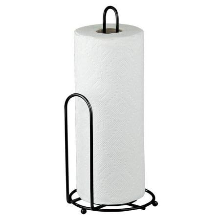 Home Basics Countertop Free Standing Black Paper Towel Holder