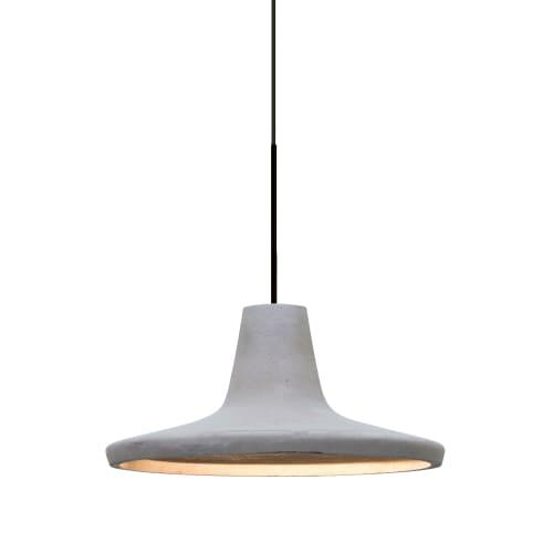 Besa Lighting 1XT-MODUSNA-LED Modus Single Light LED Mini Pendant with Concrete Shade by Besa Lighting
