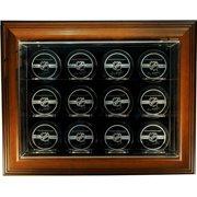 Caseworks International Twelve Puck ''Case-Up'' Display in Brown