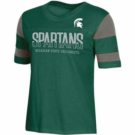 Norfolk State Spartans Green - Women's Russell Green Michigan State Spartans Boxy T-Shirt